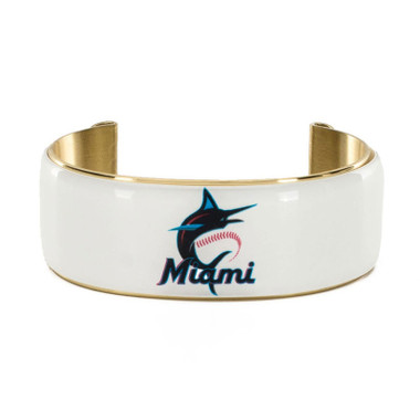 Rustic Cuff Miami Marlins Art Deco Women's Large Cuff