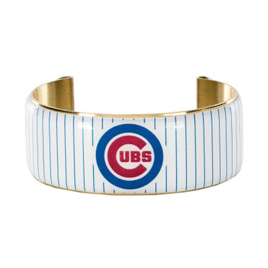 Rustic Cuff Chicago Cubs Art Deco Women's Large Cuff