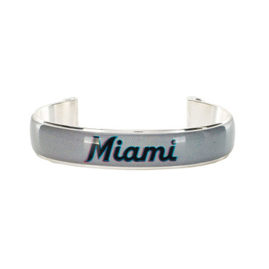 Rustic Cuff Miami Marlins Art Deco Women's Small Cuff