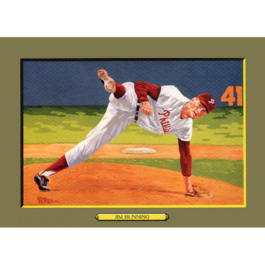 Jim Bunning Perez-Steele Hall of Fame Great Moments Limited Edition Jumbo Postcard # 97