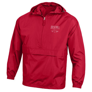 Unisex Baseball Hall of Fame Red Windbreaker