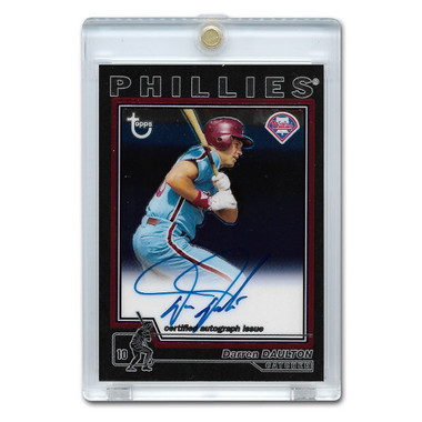 Darren Daulton Autographed Card 2004 Topps Chrome Retired Players
