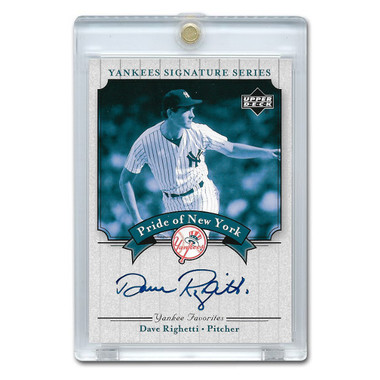 Dave Righetti Autographed Card 2003 Upper Deck Yankees Signature Series #PN-DR