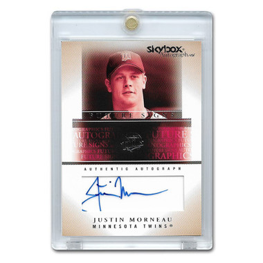 Justin Morneau Autographed Card 2005 Skybox Autographics Ltd Ed of 100