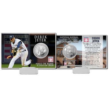 Highland Mint Derek Jeter New York Yankees Hall of Fame Class of 2020 Coin Card