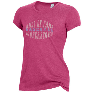 Women's Baseball Hall of Fame Pink Alternative Keepsake Tee