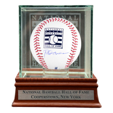 Rod Carew Autographed Hall of Fame Logo Baseball with HOF Case (MLB/Fanatics)