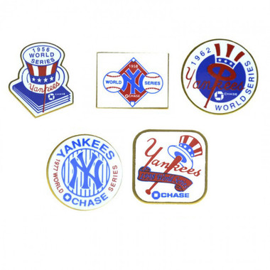 New York Yankees World Series Champions Logo Stadium Chase Pins Assortment of 14 Different