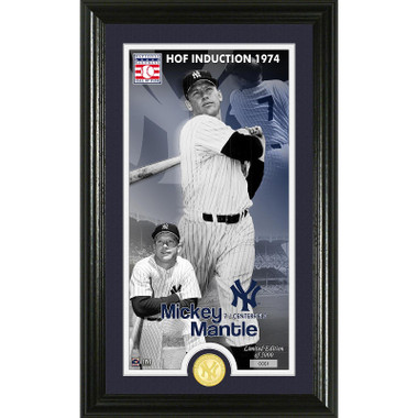 Highland Mint Mickey Mantle New York Yankees Supreme Bronze Coin Photo Mint
