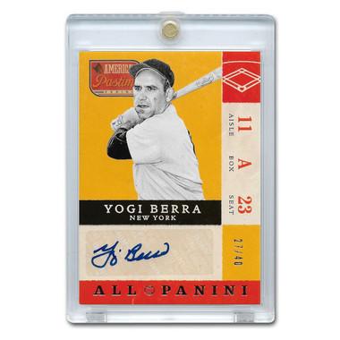 Yogi Berra Autographed Card 2013 America's Pastime Signatures Ltd Ed of 40