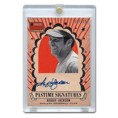 Reggie Jackson Autographed Card 2013 America's Pastime Signatures Ltd Ed of 125