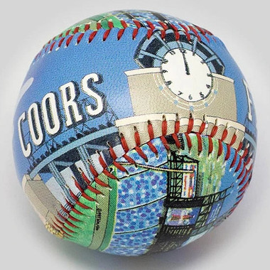 Coors Field Unforgettaballs Limited Commemorative Baseball with Lucite Gift Box