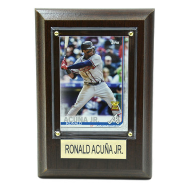 "Ronald Acuna Atlanta Braves 4"" x 6"" Baseball Card Plaque"