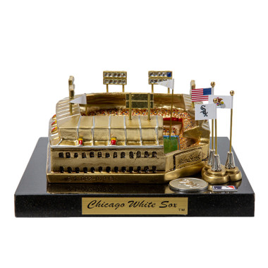 Comiskey Park Westbrook Sports Classics Cast Bronze Replica with Marble Base and Acrylic Display Case