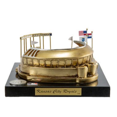 Kauffman Stadium Westbrook Sports Classics Cast Bronze Replica with Marble Base and Acrylic Display Case