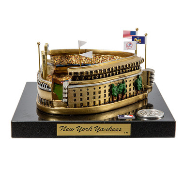 Yankee Stadium (old) Westbrook Sports Classics Cast Bronze Replica with Marble Base and Acrylic Display Case