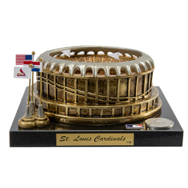 Original Busch Stadium Westbrook Sports Classics Cast Bronze Replica with Marble Base and Acrylic Display Case