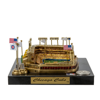 Wrigley Field Westbrook Sports Classics Cast Bronze Replica with Marble Base and Acrylic Display Case