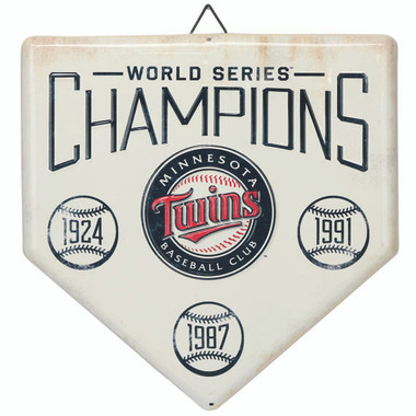 Minnesota Twins World Series Champions Home Plate Metal Wall Art