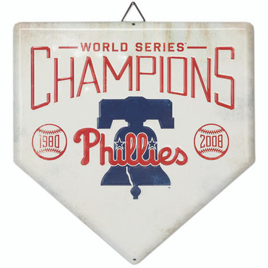 Philadelphia Phillies World Series Champions Home Plate Metal Wall Art