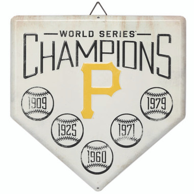Pittsburgh Pirates World Series Champions Home Plate Metal Wall Art