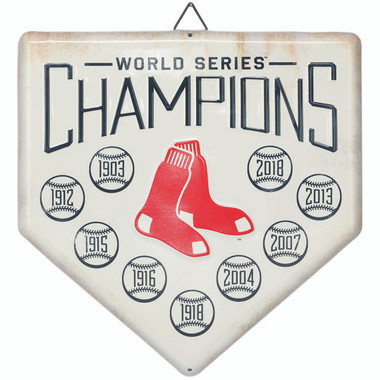 Boston Red Sox World Series Champions Home Plate Metal Wall Art