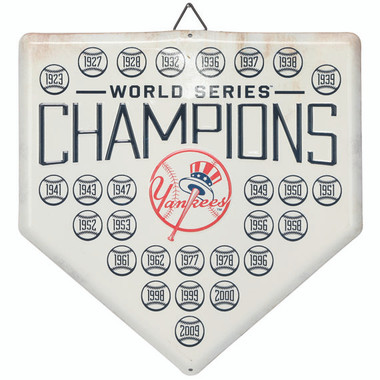 New York Yankees World Series Champions Home Plate Metal Wall Art