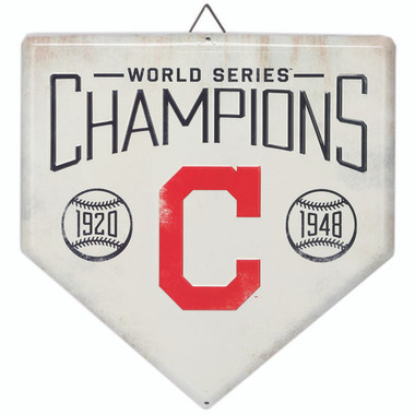 Cleveland Indians World Series Champions Home Plate Metal Wall Art