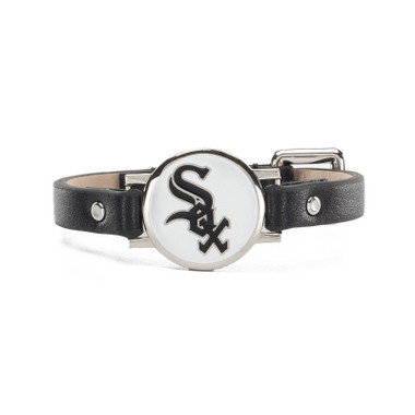 "Rustic Cuff Chicago White Sox Leather Women's ""Betsy"" Bracelet"