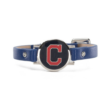 "Rustic Cuff Cleveland Indians Leather Women's ""Betsy"" Bracelet"