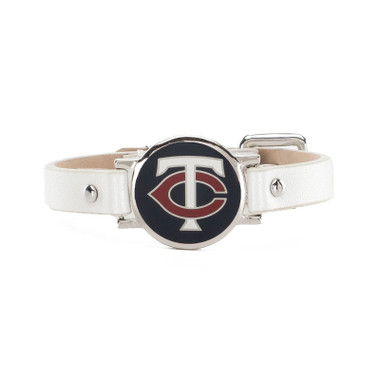 "Rustic Cuff Minnesota Twins Leather Women's ""Betsy"" Bracelet"