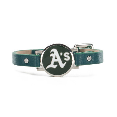 "Rustic Cuff Oakland Athletics Leather Women's ""Betsy"" Bracelet"