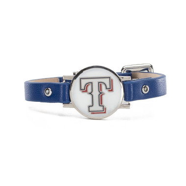 "Rustic Cuff Texas Rangers Leather Women's ""Betsy"" Bracelet"