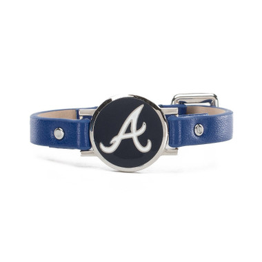 "Rustic Cuff Atlanta Braves Leather Women's ""Betsy"" Bracelet"