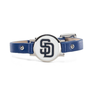 "Rustic Cuff San Diego Padres Leather Women's ""Betsy"" Bracelet"