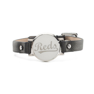 "Rustic Cuff Cincinnati Reds Leather Women's ""Betsy"" Bracelet"