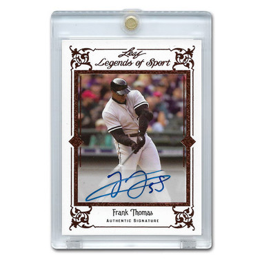 Frank Thomas Autographed Card 2012 Leaf Legends of Sports