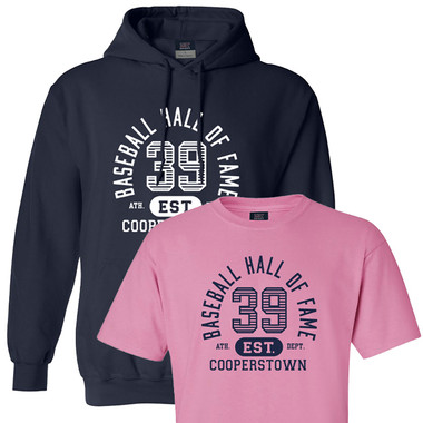 Women's Baseball Hall of Fame Hooded Sweatshirt and T-Shirt Bundle