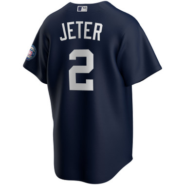 Men's Nike Derek Jeter Official Replica New York Yankees Alternate Navy Hall of Fame Class of 2020 Jersey