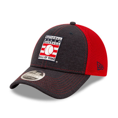 Men's New Era Baseball Hall of Fame Logo Shade Neo 9FORTY Navy and Red Snapback Cap