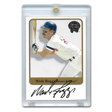 Wade Boggs Autographed Card 2001 Fleer Greats of the Game