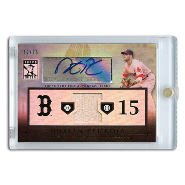 Dustin Pedroia Autographed Card 2010 Topps Tribute Lt Ed of 75