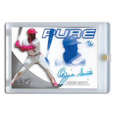 Ozzie Smith Autographed Card 2014 Leaf Q Ltd Ed of 24