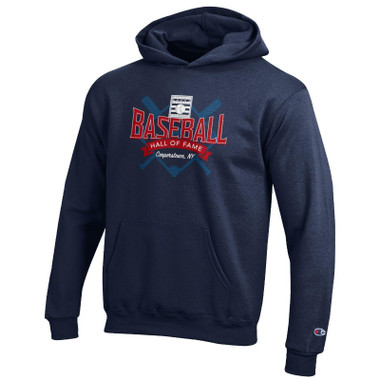 Youth Champion Baseball Hall of Fame Navy Powerblend Hood
