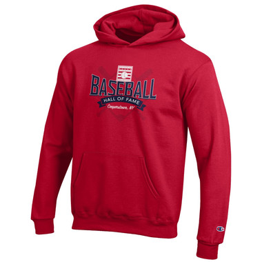 Youth Champion Baseball Hall of Fame Red Powerblend Hood
