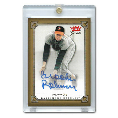 Brooks Robinson Autographed Card 2004 Fleer Greats of the Game