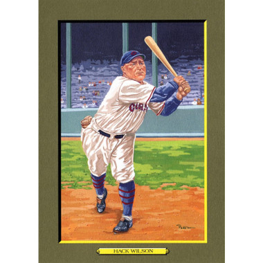 Hack Wilson Perez-Steele Hall of Fame Great Moments Limited Edition Jumbo Postcard # 80