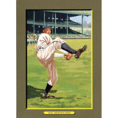 Hal Newhouser Perez-Steele Hall of Fame Great Moments Limited Edition Jumbo Postcard # 81