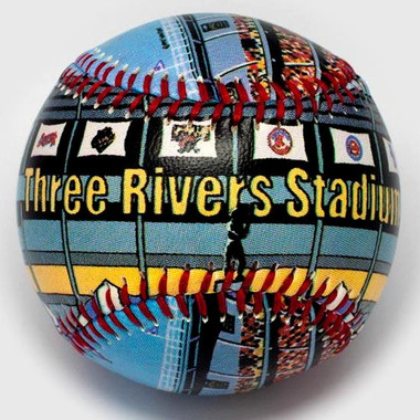 Three Rivers Stadium Unforgettaballs Limited Commemorative Baseball with Lucite Gift Box