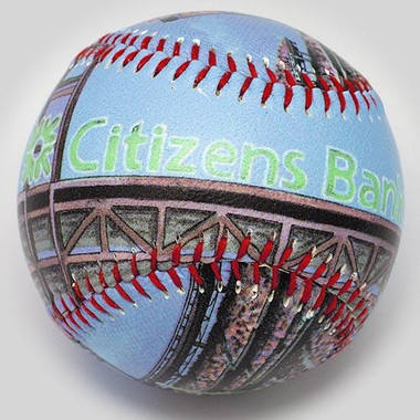 Citizens Bank Park Unforgettaballs Limited Commemorative Baseball with Lucite Gift Box